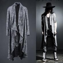 2016 Mens Long Sleeve Linen Shawl Cardigan,Males Pull Style Punk Cardigan Clothings Fashion Sweaters Men Outerwear Coats(China (Mainland))