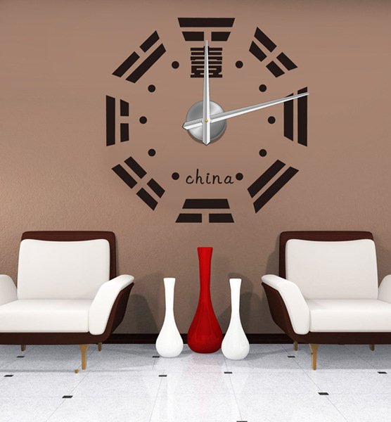 W series oversized living room 3d wall clock creative wall for Modern living room clocks