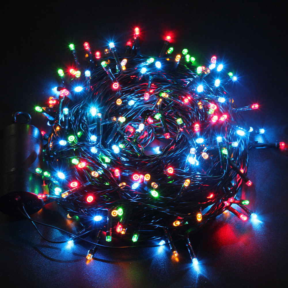 Led String Lights For Christmas Trees : Aliexpress.com : Buy Excelvan Light Christmas 40M 300 Led Outdoor String Light Luces De Navidad ...
