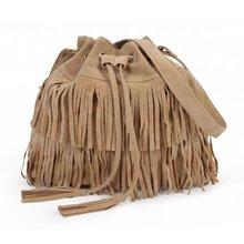 Women Faux Suede Fringe Tassel Shoulder Bag Handbags Messenger Bag(China (Mainland))