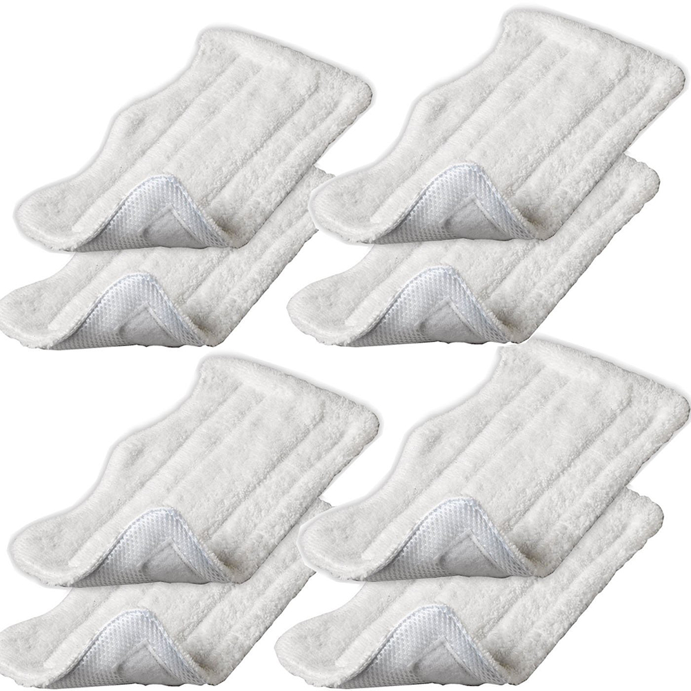 8pcs Replacement Microfiber Cloth Pad Cover for H2O Steam Mop S3111 (White)(China (Mainland))