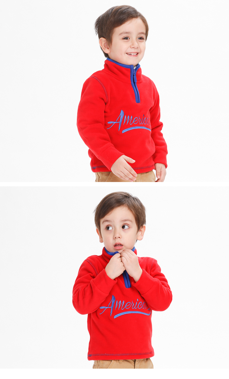 Svelte Brand Children Boys Solid Color Fleece Pullovers Jackets for Fall Spring Winter Warm Kids Sport Outerwear Coats Clothes