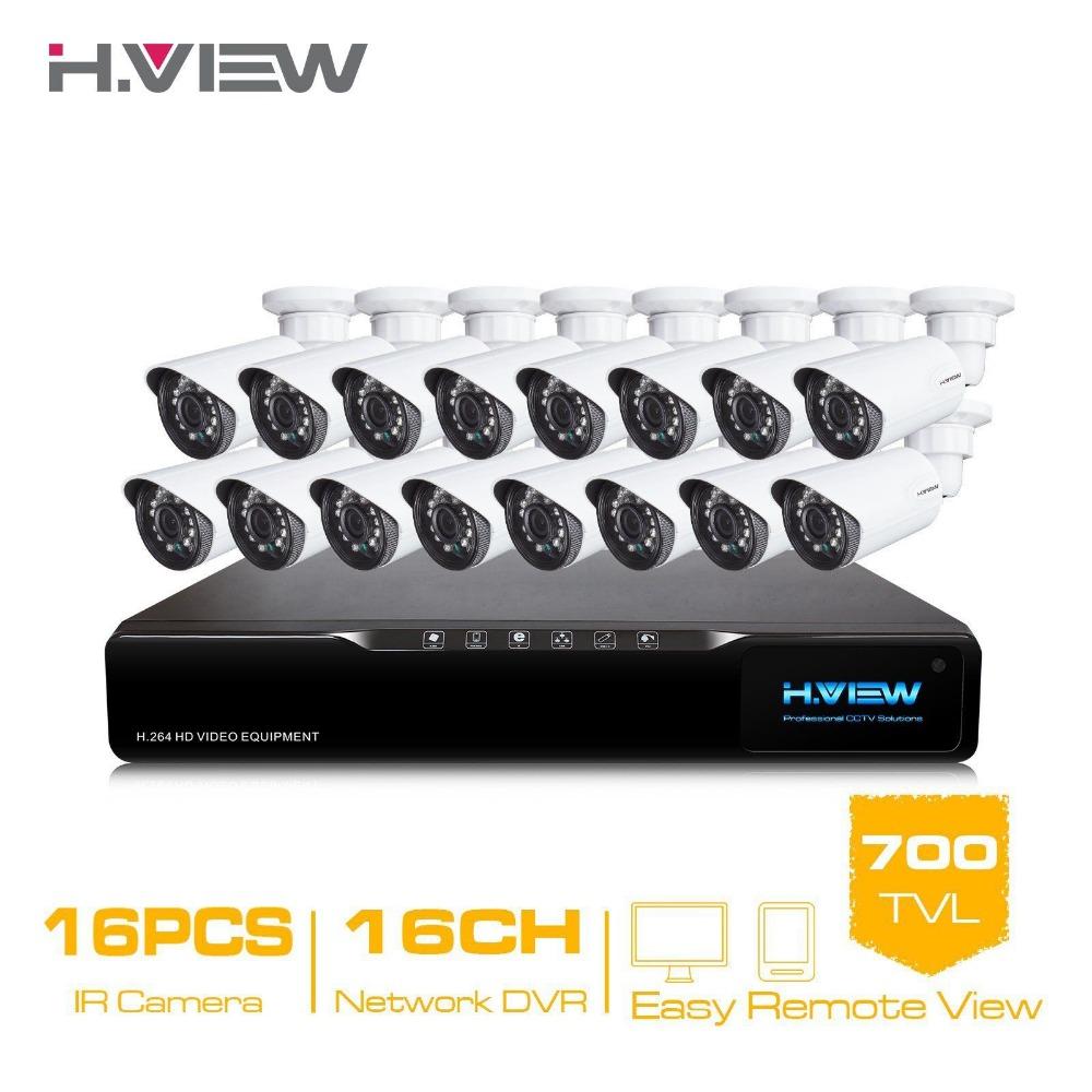 16CH HDMI Network DVR 16PCS 700TVL IR Outdoor Weatherproof CCTV Camera 24 LEDs Home Security System Surveillance Kits No HDD <br><br>Aliexpress