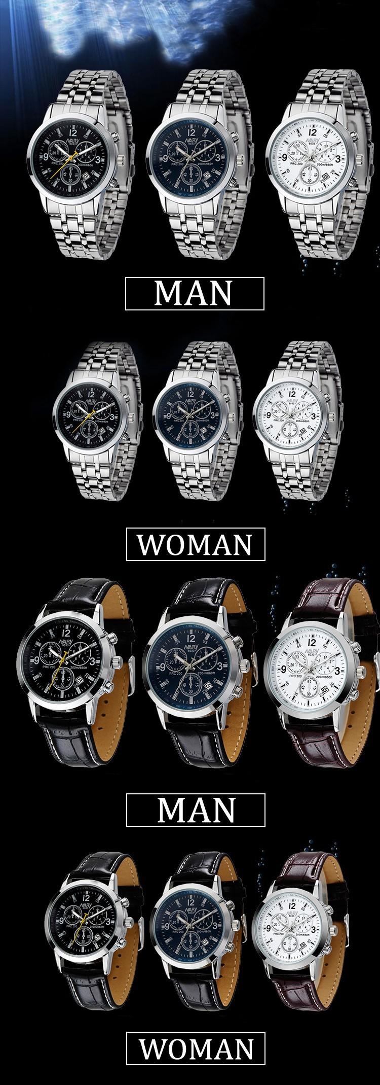 NARY Высокое Качество Модный Бренд Кварцевые Часы Любители часы Женщины Мужчины Память Часы Кожа PU Календарь Наручные Часы