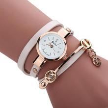 Vintage Women's Watches Metal Strap Casual Analog Quartz Women Watch Rhinestone Bracelet Wristwatches Bracelet Watches 40(China)