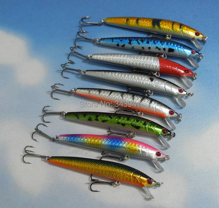 Lot Colors Fishing Lures Crankbait Minnow Hooks Crank Baits 8g 10cm 3.94 inch - discover fun store
