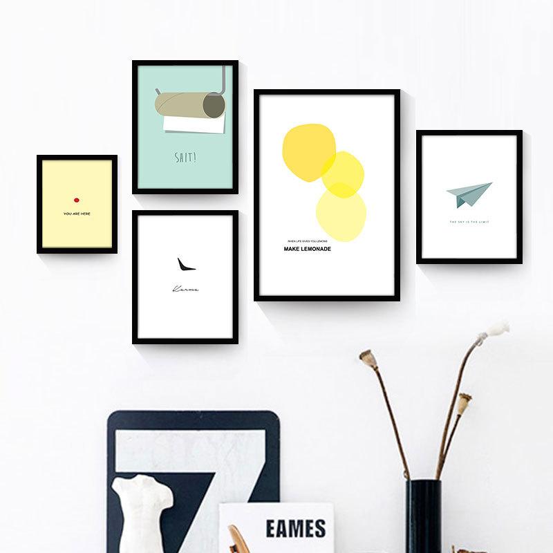 Aliexpresscom Buy Nordic Simple Canvas Hanging