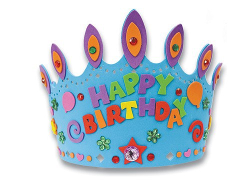 how to make birthday cap with chart paper