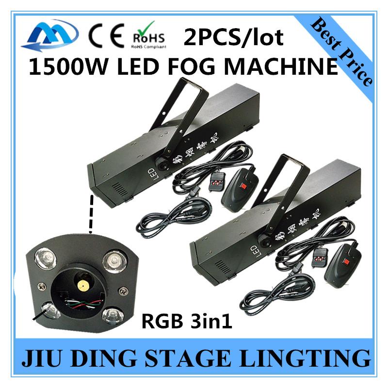 2pcs/ RGB 3in1  LED 1500W smoke machine RGB 3IN1 1500W fog machine of professional DJ equipmentequipment<br><br>Aliexpress