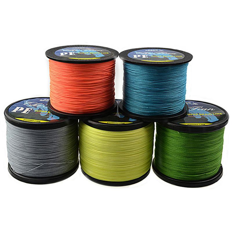 500m 4strands Green/Yellow/Gray/Orange/Blue PE Braided Fishing Line(China (Mainland))