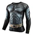 Real Men Crossfit Long Sleeve Compression Shirt 3D Anime Superhero Superman Captain America T Shirt Tights