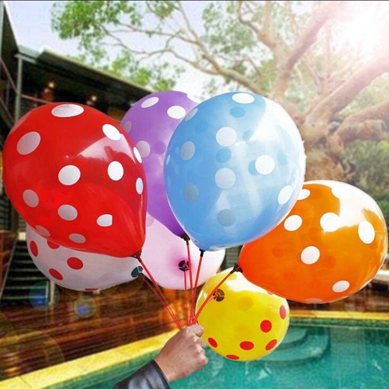 100%latex baloons(20piece/lot ) Mix color balloons Wedding Birthday Party Decoration Candy color dot wave point balloon balloons<br><br>Aliexpress