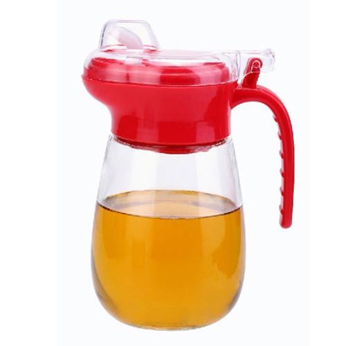 Revitalize 600ml glass oiler leak-proof oil bottle soy sauce pot kitchen supplies eco-friendly