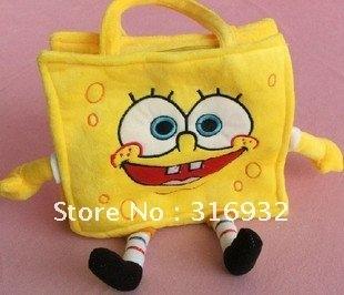 I4 Baby toy,spongebob backpacks,plush baby, cute cartoon baby bags