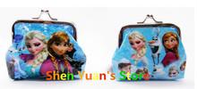 Wholesale 12pcs lot Elsa Anna Coin Purses kids Snow Queen wallet chilldren princess Elsa Anna money