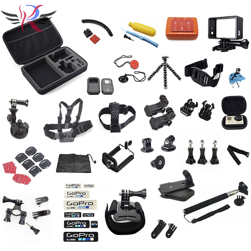GoPro accessories 50 in 1 Family Kit GoPro accessories set GoPro accessories package for GoPro HD Hero 4 3+ 3 2 Free Shipping(Hong Kong)