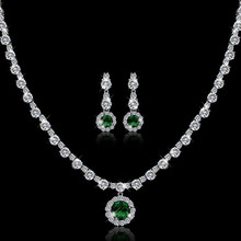 Fashion AAA zircon austrian crystal bridal jewelry set wedding jewelry atmosphere bridesmaid jewelry set pinarello dogma(China (Mainland))