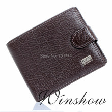 New Arrival!FREE SHIPPING!Classic Men Gentlemen Coffee Real Genuine Leather Bifold Clutch Wallet ID Credit Card Coin Pouch Purse