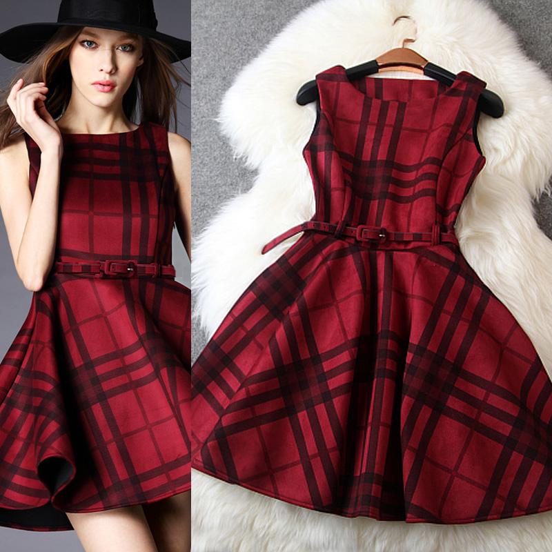 Fashion  Women Dress 2015 Spring Stylish elegant slim sleeveless one-piece dress tank dress female