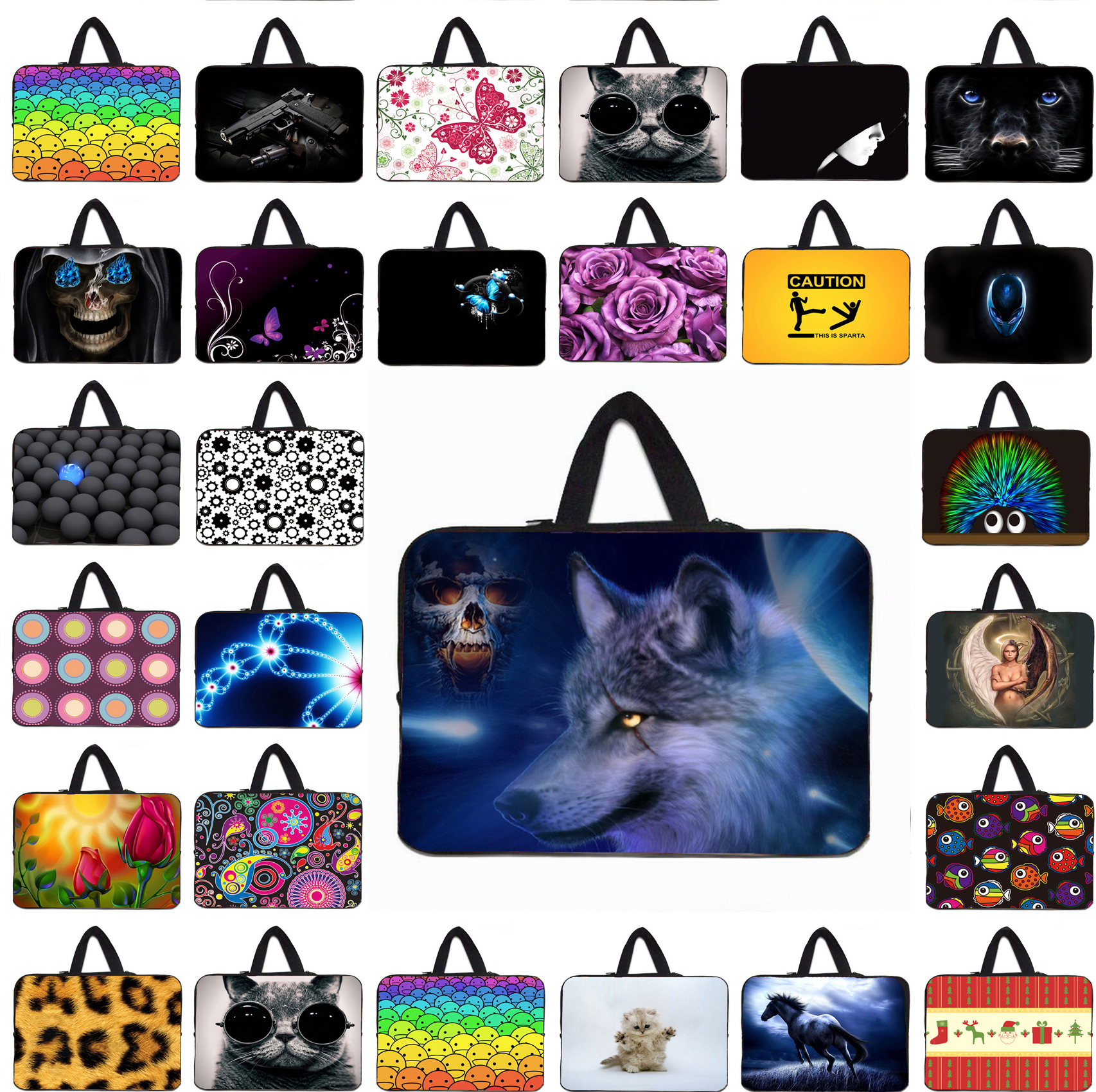 Animals Notebook Computer Mini Netbook Neoprene Inner Sleeve Pouch Bags Case For 9.7 10.1 12 13.3 14.1 15 17 17.3 inch Laptop PC(China (Mainland))