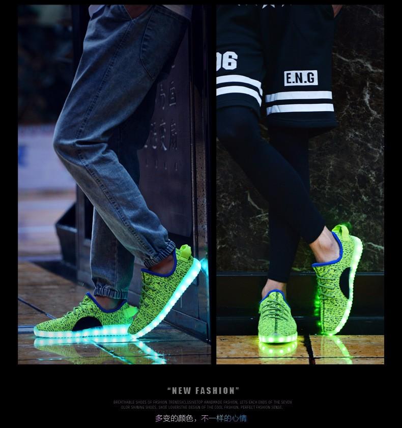 Men Led Shoes 7 Colors Led Luminous Men High Top Led Shoes For Adults Usb Charging Led Lights Up Shoes