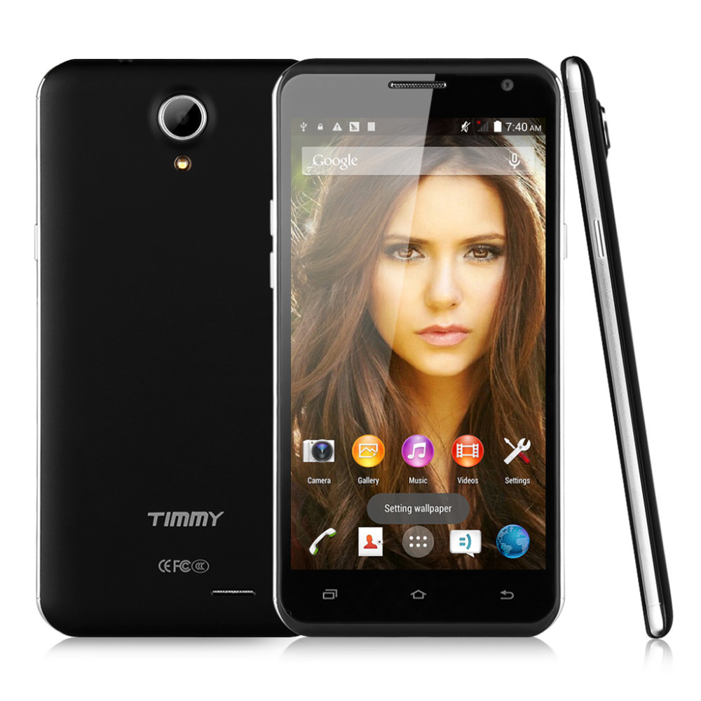 2015 New 5 5 TIMMY E86 HD Screen 3G Android 4 4 MTK6582 Quad Core Mobile