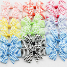 3.2″ Plaid Ribbon Bows Tartan Hair accessories for Children Checkered pattern Baby Girls Hair clip Kid Colorful hairpin 24pc