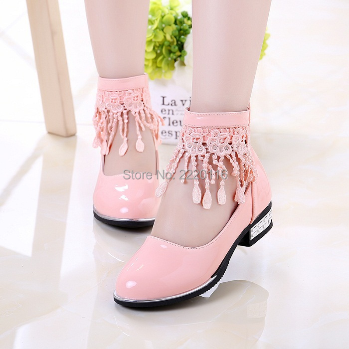 Free Shipping! Autumn new children's shoes girls princess tassel shoes Korean version of the small girls big boy shoes