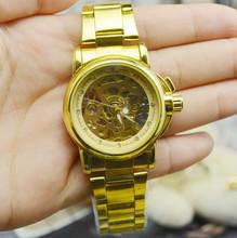 Fuyate personalida mujeres comerciales de reloj mecánico completamente automático para mujer reloj tira de acero j197