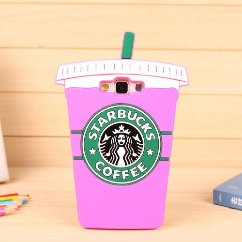 Newest Cute 3D Coffee cup pattern soft Silicon back cover free shipping Phone case for Samsung Galaxy A7 YC579(China (Mainland))
