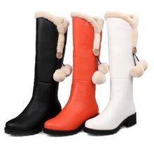 Caliente! mujer invierno nuevo estilo botas naranja princesa estilo preppy inglaterra mujeres botas de nieve demale mullido shoe envío gratis(China (Mainland))