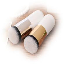 1Pc Explosion models chubby pier foundation brush flat the portable BB Cream Powder Foundation Blushing Brush Blend Tools Kit