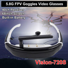 Free shipping! Vision-720S 5.8G 40CH HD FPV Racing Drone Goggles Video Glasses 68″ for DJI Quad