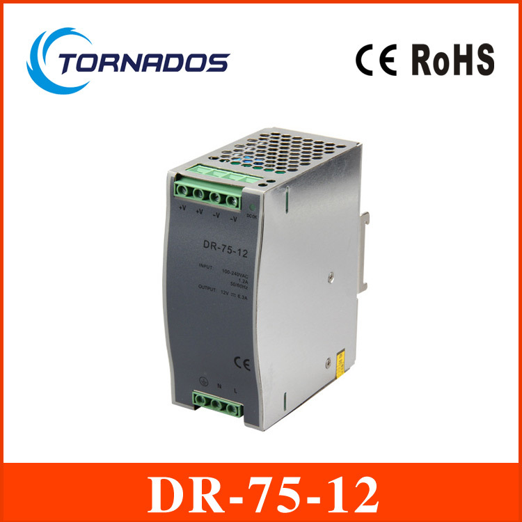 75w 12v 6.3a din rail model ce approved 75w DR-75-12 power supply rail din 12v with wide range input high quality<br><br>Aliexpress