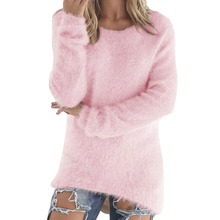 Fashion Women Long Sleeve Knitted Pullover Loose Sweater Jumper Tops Knitwear(China)