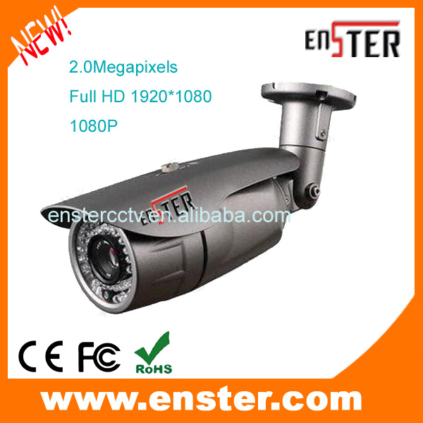 Outdoor Top 10 Security Camera full real-time 2MP 1080P  outdoor and indoor use Network IP Camera with poe  night vision