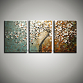 3 piece blossom knife abstract acrylic painting hand painted flower decoration painting oil on canvas wall