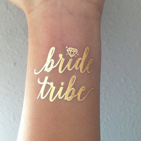 1pcs bride tribe Temporary Tattoo bachelorette party accessories Bridesmaid bridal shower wedding decoration party favor(China (Mainland))