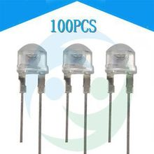 New Arrival 100 pcs 8mm 0.5W Straw hat white LED High-power Emitting Diode Light For Sale(China (Mainland))