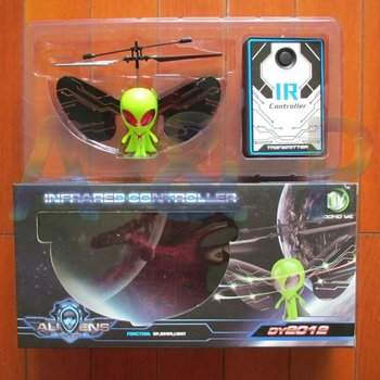 Free EMS, R/C flying alien, with lights and USB, Novelty remote control toys, Infrared control UFO, Cool fly man, up / down