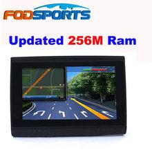 2016 Updated 256M Ram + HD Screen!  Fodsports Brand 5'' Waterproof IPX5 Bluetooth GPS Navigator for Motorcycle+8GB + FM + Maps(China (Mainland))