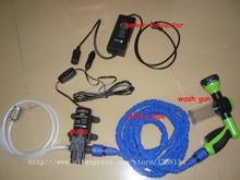 110 v - 220v to 12 v power converter connect  12 v car washing machine cleaning pump high pressure water pump(China (Mainland))