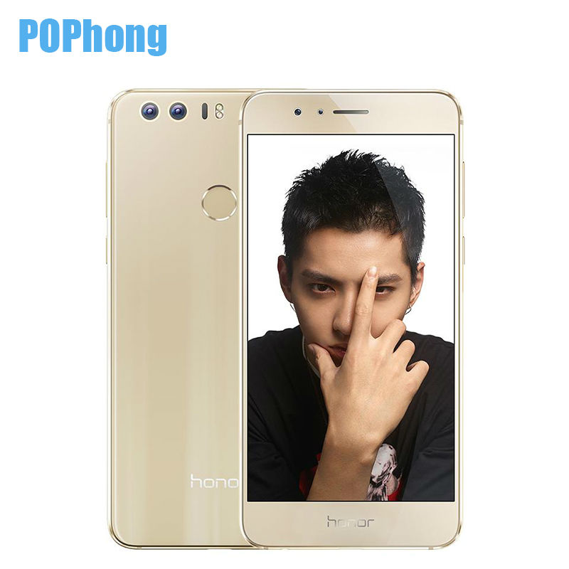 """2016 HUAWEI Honor 8 Two Cameras 2.5D Glass 5.2"""" Android 6.0 Smartphone Octa Core Kirin 950 3GB/4GB RAM 32GB/64GB ROM Infrared(China (Mainland))"""
