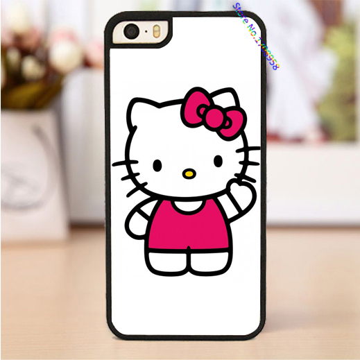 hello kitty bow sanrio kawaii fashion housing cover case for iphone 4 4s 5 5s 5c 6 & 6 plus case *2469(China (Mainland))