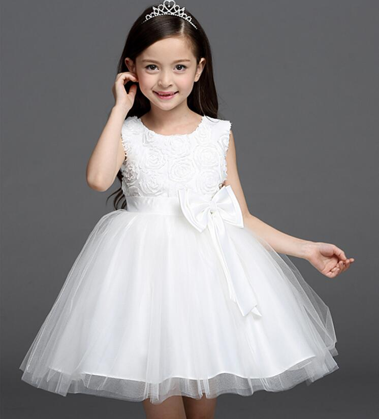 The latest version of the little girl flower children's wear simple sleeveless pageant dress formal dress for feast girl dress(China (Mainland))