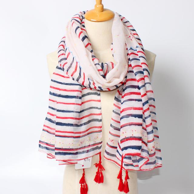 2016 новое поступление зима мода женщин марка дизайн богемия национальный ветер полоса 180 см * 100 см длинный размер платки кисти шарф