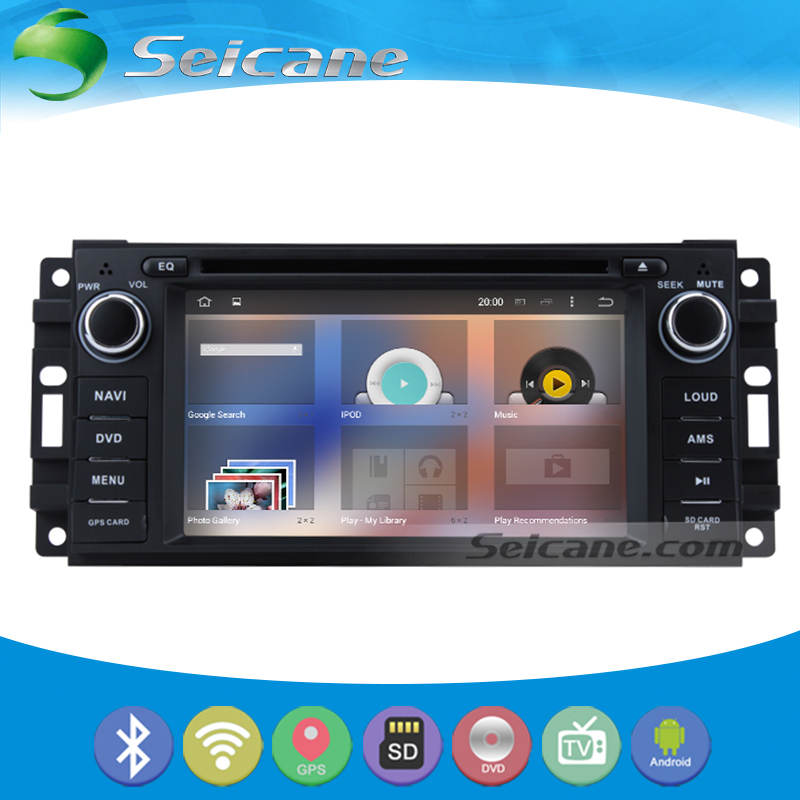 Seicane Cheap Touch Screen Android 5.1.1 GPS Navigation Car stereo Audio System for 2008 2009 2010 Jeep Commander with Radio(China (Mainland))