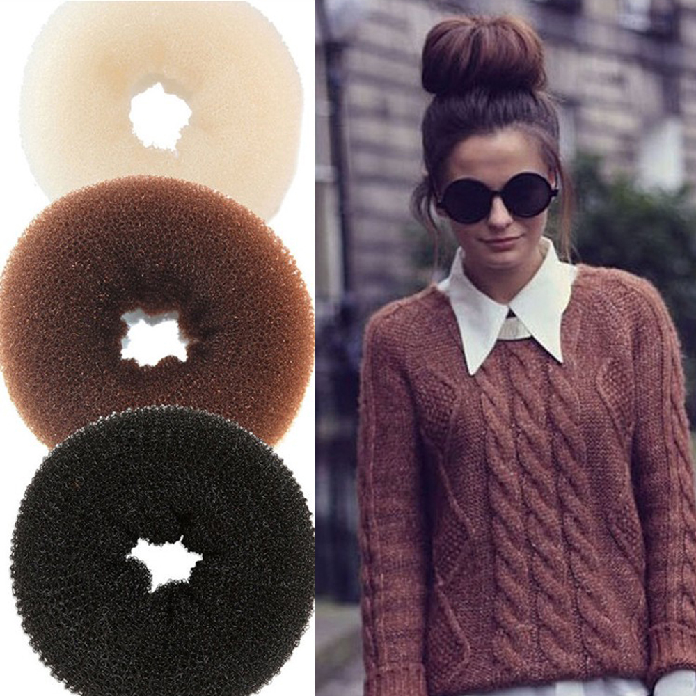 how to put a donut bun in your hair