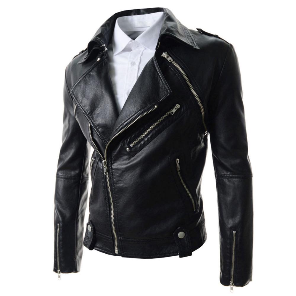 (Jacket + Vest) 2015 New Arrival  Black Pu Leather Jacket Men Autumn Men Slim Fitted Biker Motocycle Jacket Jaqueta De Couro XxlОдежда и ак�е��уары<br><br><br>Aliexpress
