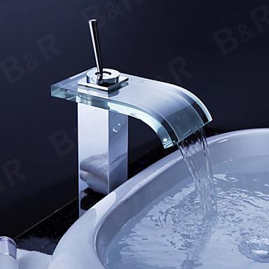 Здесь можно купить  Faucet Glass Waterfall Bath Basin Mixer tap basin faucet  S-206B  Дом и Сад